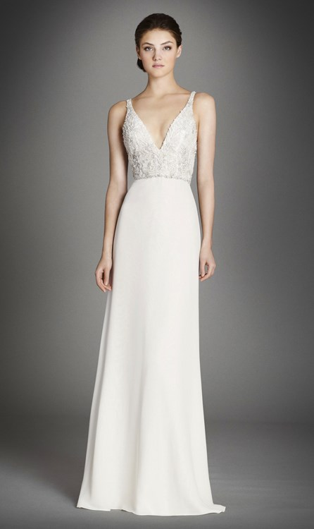 6 dress shopping tips for new brides to be blog for Lazaro a line wedding dress
